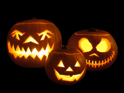 3 jackolanterns by William Warbly on Flickr