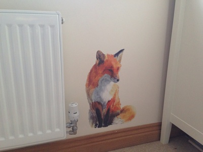 Fox, fox wall sticker, fox wall decal