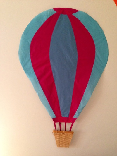 Homemade hot air balloon, balloon decoration, kids room hot air balloon, playroom decoration hot air balloon