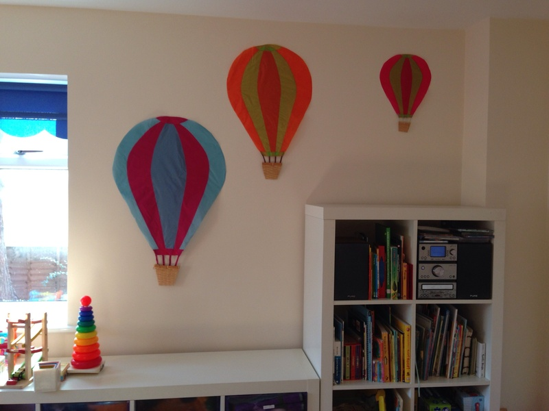 Hot air balloon decoration, kids bedroom decoration ideas, kids playroom decor ideas