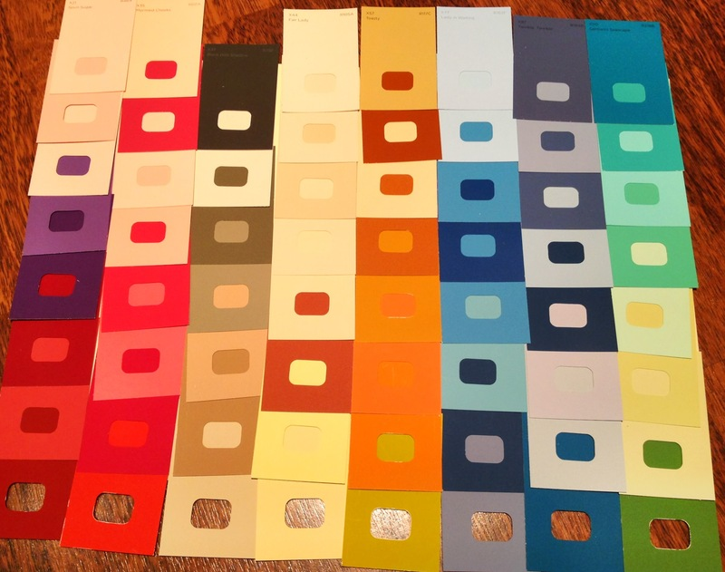 Paint samples, colours, mounting board - Paint Sample Wall Art ...
