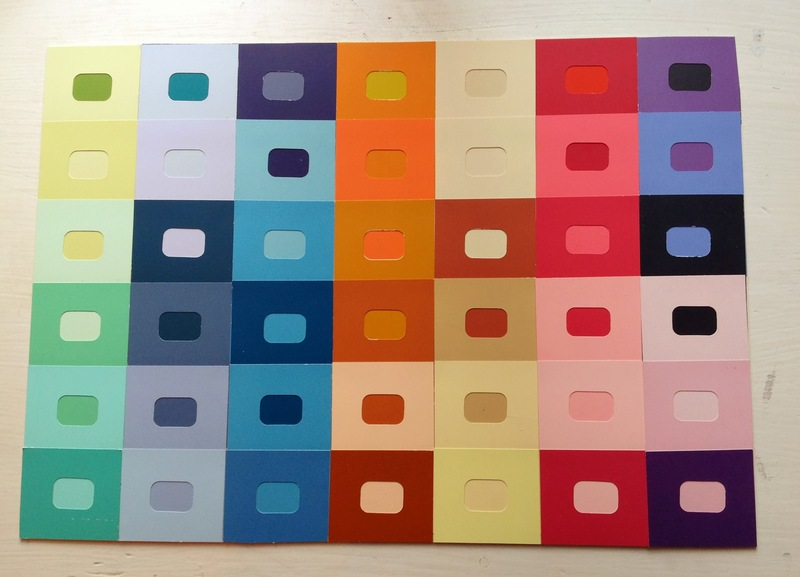 Paint Samples Colours Mounting Board Paint Sample Wall Art Image 5