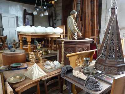 antique church furnishings, london church salvage, church salvage warehouse
