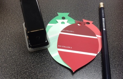 Bauble gift tags, hole punch