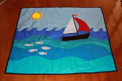 boat play mat, rip stop play mat, baby play mat, kids play mat, homemade play mat, play mat tutorial, play mat