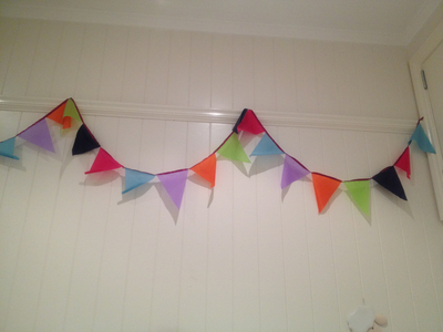 bunting, easy bunting, ripstop bunting, kids room bunting, play room bunting, multi coloured bunting
