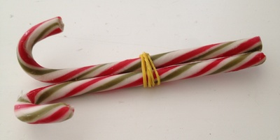 Candy cane, Christmas, table decoration