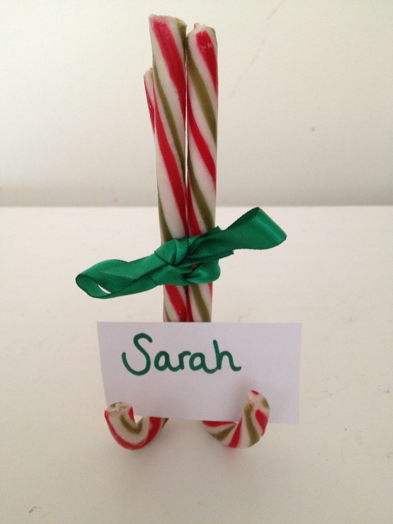candy cane table decorations candy cane christmas table decoration candy cane name holder 55 - Candy Cane Christmas Table Decorations
