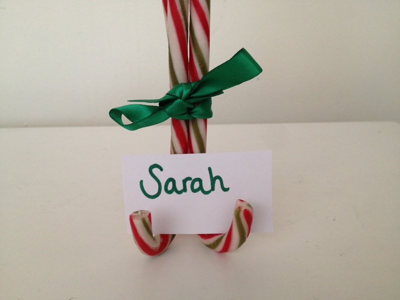 candy cane christmas table decoration candy cane name holder image 5 - Candy Cane Christmas Table Decorations