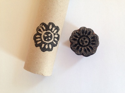 Cardboard tube pouch, TP roll pouch, toilet roll tube pouch, creative wrapping, recycled wrapping
