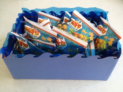 kids sea creature party food box, pirate party food box, wave box, party food sea