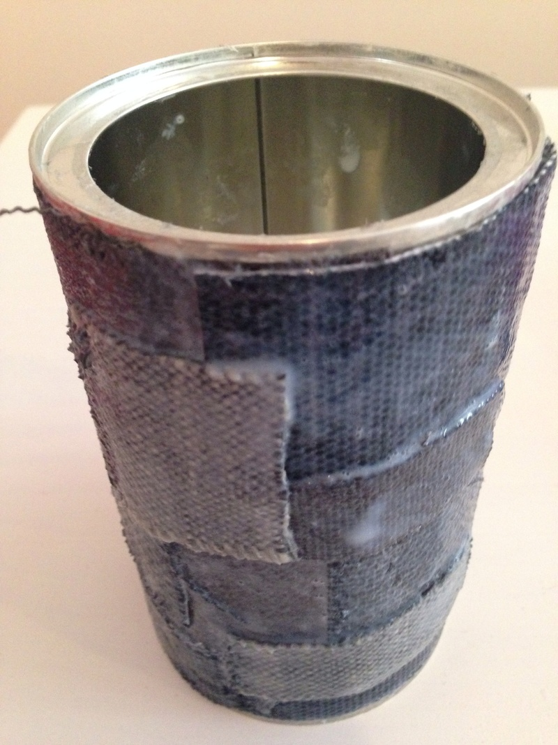 Coffee can craft, coffee can pencil pot, upcycled pencil pot, coffee tin pencil pot  -   Coffee Tin Pencil Pot