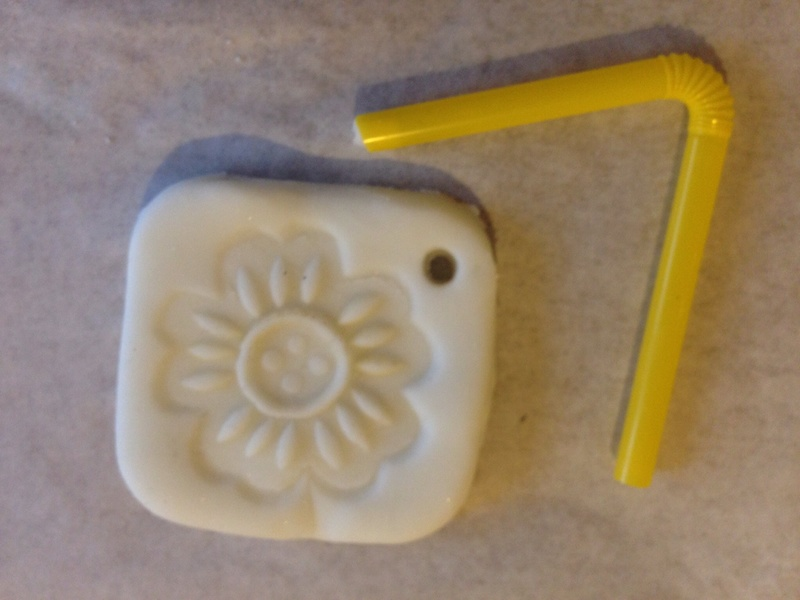 Corn flour clay decorative tag, stamped cornstarch clay tag, cornstarch clay gift tag, cornflour clay gift tag, white clay tag  - Cornflour Clay Decorative Tags