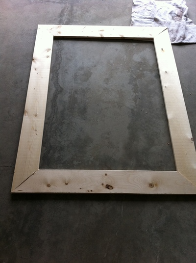 Completed frame