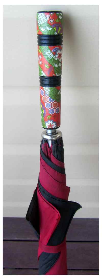 decorated umbrella handle