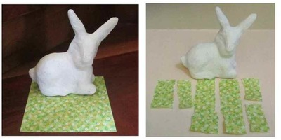 Decoupage Easter Bunny Montage