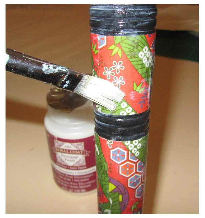 umbrella handle and decorative paper