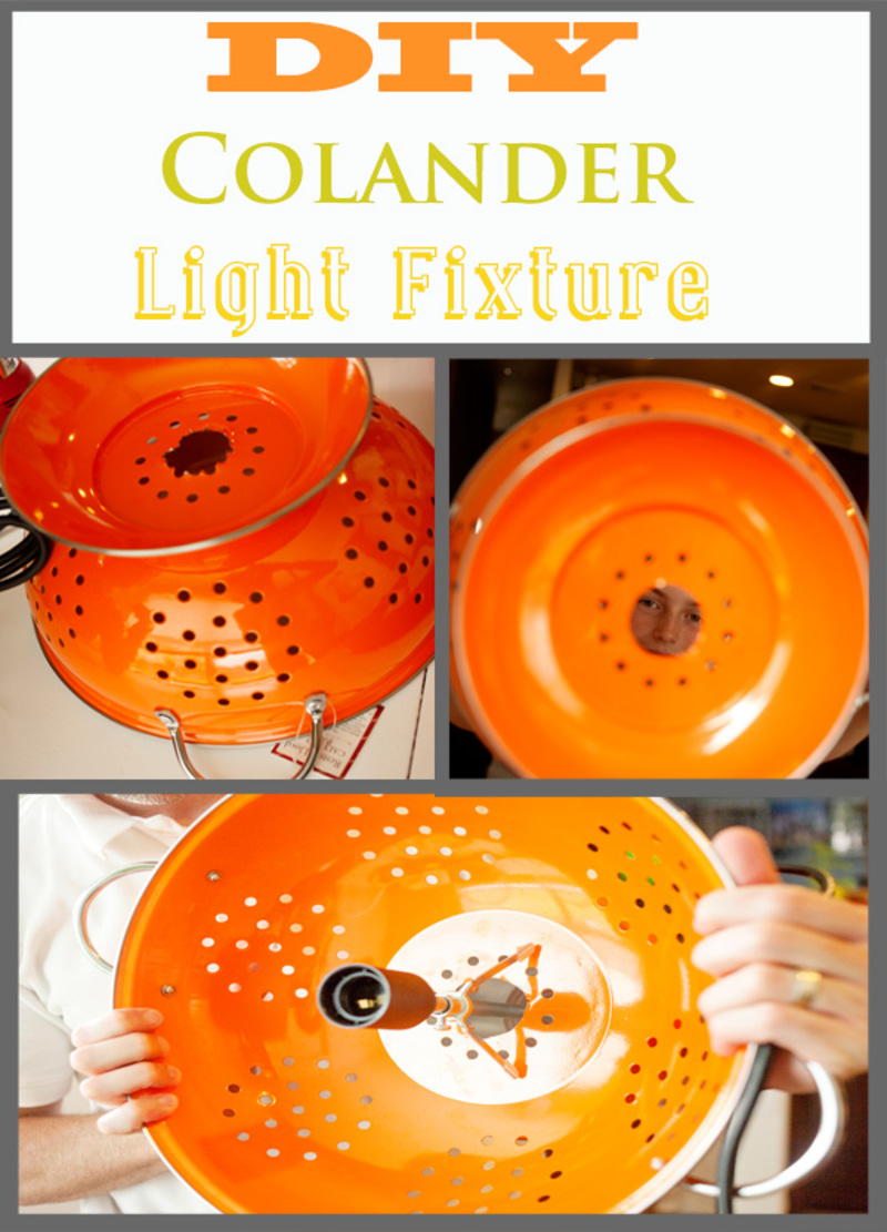 DIY Colander Light Fixture