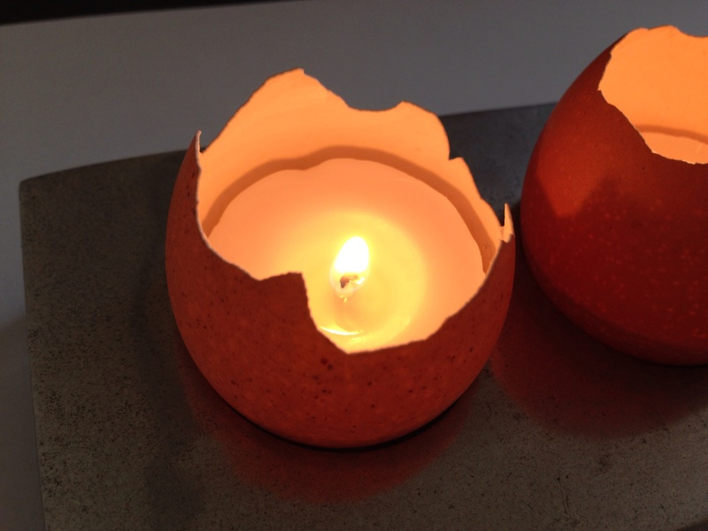 Squishy Glowing Egg : Egg shell candles, Easter candles, tea light in egg shell, unusual tea light, homemade candles ...