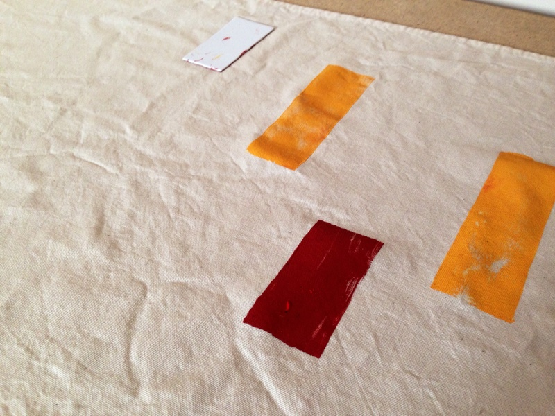 Fabric paint, speedway fabric paint  - Hand Printed Tea Towel