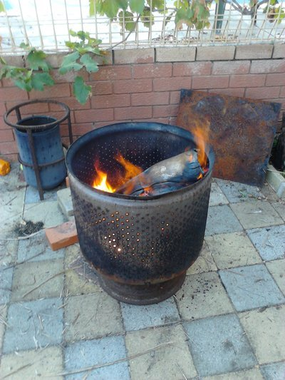 Repurpose A Washing Machine Drum Into A Fire Pit Decornotes