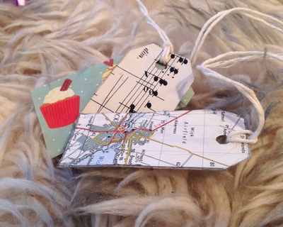 Gift tag muffin music maps