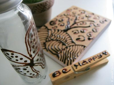 Henna Art on Recycled Medium