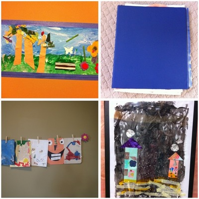Organizing and Displaying Children's Art Montage