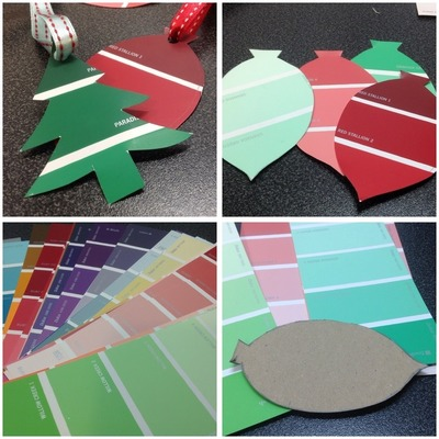 Paint Chip Gift Tags Montage
