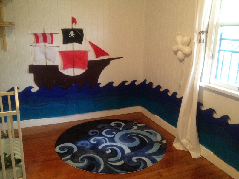 Pirate theme kids room decornotes for Boys pirate bedroom ideas