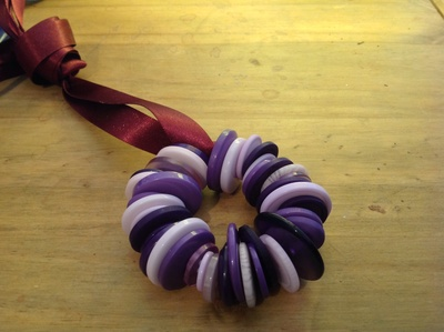 purple button wreaths