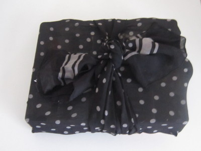 Scarf used as Gift Wrapping