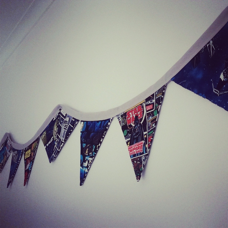 Bunting Flags for Boys Rooms (How-to)