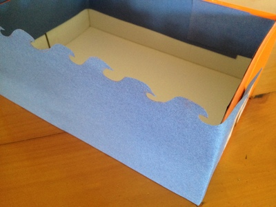 wave party box, party treat box, under the sea party, sea themed party food