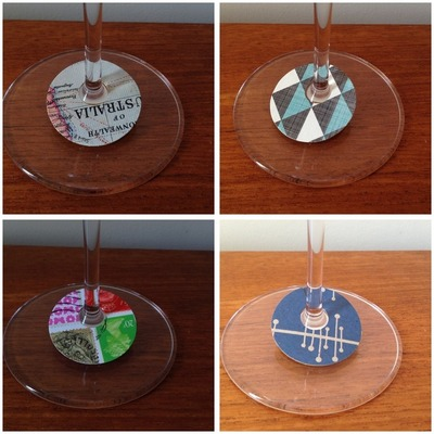 Wine Glass Tags Montage