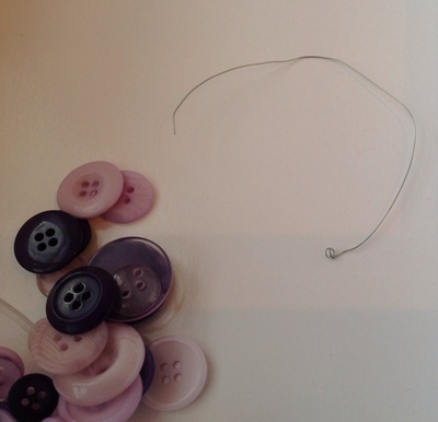 button, wire, ribbon